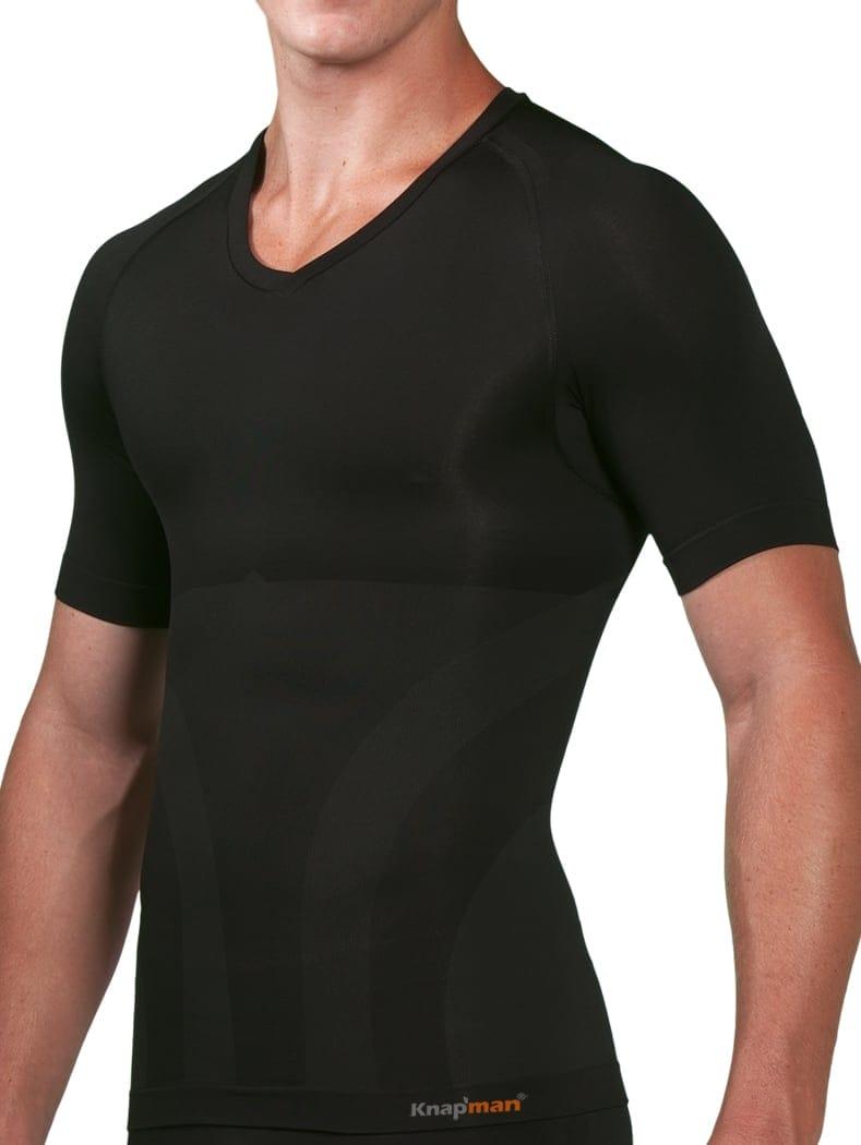 86236477419 Knap'man V-Hals Shirt zwart